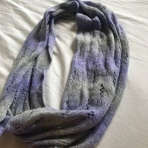 Accessories - Purple and grey ombré infinity scarf